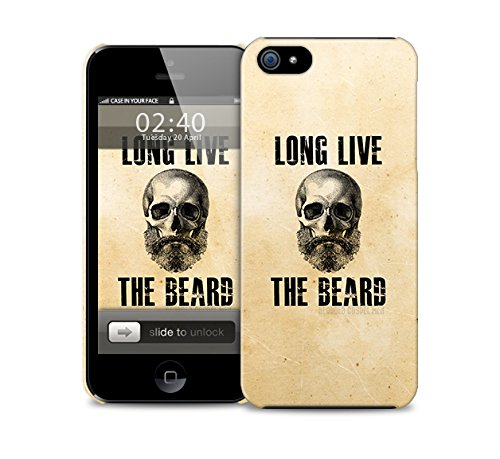 Long Live the Beard (Vive la Barbe) iPhone 6 plus plastic protective phone case cover (image montre iphone 5 exemple)