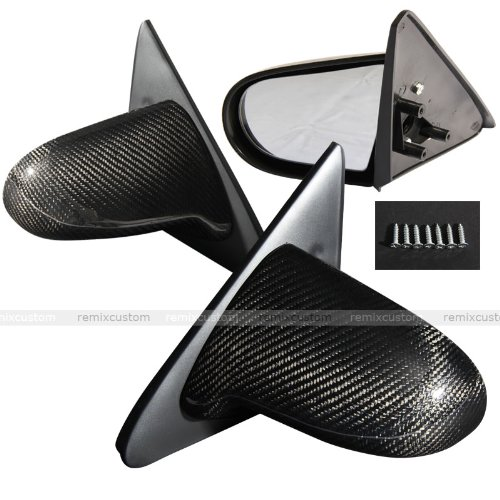 Remix Custom For 96-00 Honda Civic 2/3DR EK Spoon Carbon Fiber Manual Side Mirrors