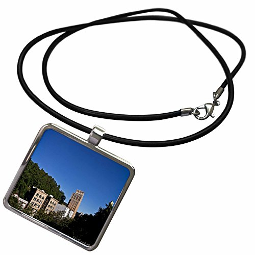 3Drose Lee Hiller Photography Hot Springs Arkansas   Hot Springs Arkansas Medical Arts Building Skyline   Necklace With Rectangle Pendant  Ncl 32457 1