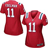 Patriots 11# Edelman Womens Embroidery New England Game jersey Small
