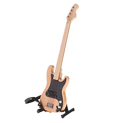 Amazon.es: Baoblaze Linda Guitarra de Madera para Casa de Muñecas ...