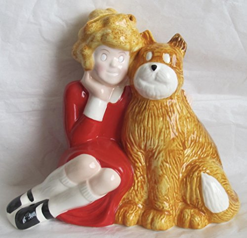 Applause Little Orphan Annie   Sandy Ceramic Bank Numbered T 53   Dated  1982 Knickerbocker  Columbia Pictures