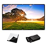 100 Inch 16:9 PVC HD Fordable Portable Home And Outdoor Use Projector Screen