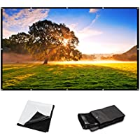 120 Inch 16:9 PVC HD Fordable Portable Home And Outdoor Use Projector Screen