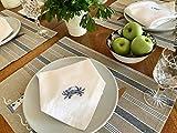 Eight Owls White Linen Dinner Napkins - 100% Linen