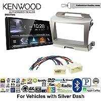 Volunteer Audio Kenwood DMX7704S Double Din Radio Install Kit with Apple CarPlay Android Auto Bluetooth Fits 2011-2014 Kia Sportage (Silver)