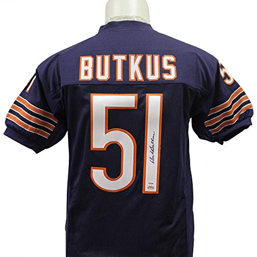 (Dick Butkus Autographed Signed Throwback Chicago Bears Jersey - PSA/DNA)
