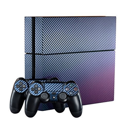 eXtremeRate Purple and Blue Chameleon Full Faceplates Skin Sticker Sets for PS4 Controller Vinly Decal Cover for Playstation 4 - Cover Skin Faceplate