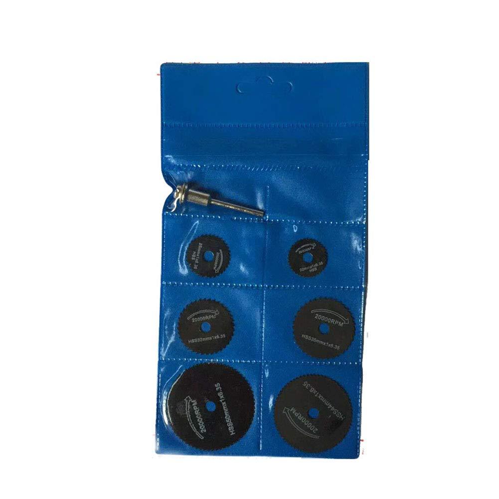 Mini Circular HSS Sä geblä tter Set von 7pcs mit 6mm Zylinderschaft Dorn fü r Dremel Fordom Elektrische Schleifmaschine Rotary Tool Schwarz NaiCasy