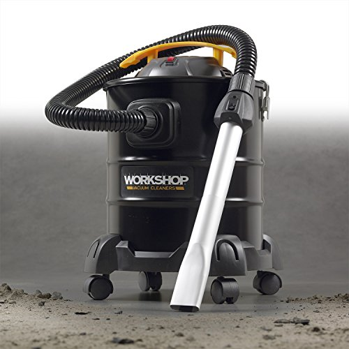 WORKSHOP Ash Vacuum Cleaner WS0500ASH, 5-Gallon Ash Vac For Fireplaces, Stoves, BBQ Pits; 3.0 Peak Horsepower Ash Vacuum