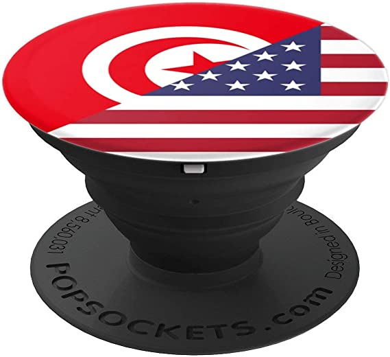 Amazon Com Tunisian American Tunisia Usa Flag Handle Popsockets Grip And Stand For Phones And Tablets