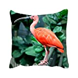 ggqweer Red Bird Standing In A Metal Panel Customize Pillowcase double print decorate your bedroom