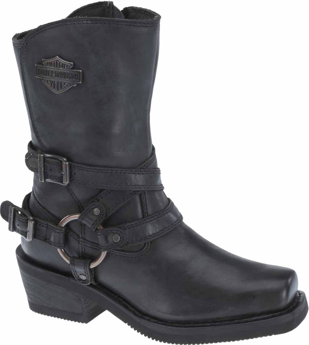 Harley-Davidson Women's Ingleside 8.5-Inch Motorcycle Boots D87091 (Black, 10)