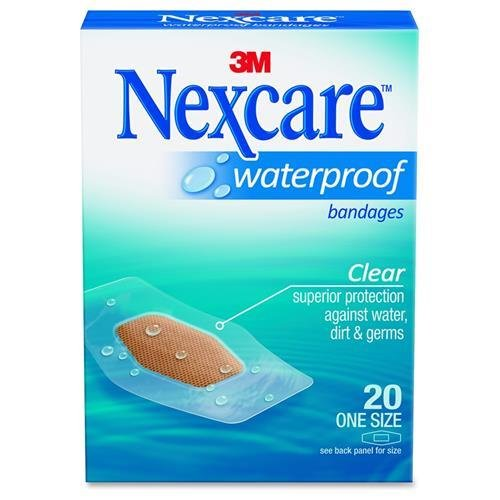 Clear Nexcare Bandages Protection Waterproof (3m Nexcare W/P Clr Bndge Size 20ct)