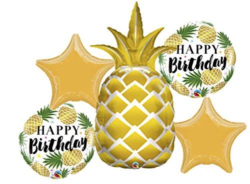 American Pineapple - American Balloon Company Pineapple Birthday Balloon Bouquet