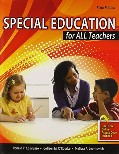 Special Education for All Teachers by COLARUSSO RONALD P O'ROURKE COLLEEN M HUGHES AND ASSOC CONSULTING FIRM INC (2013-01-29) Paperback