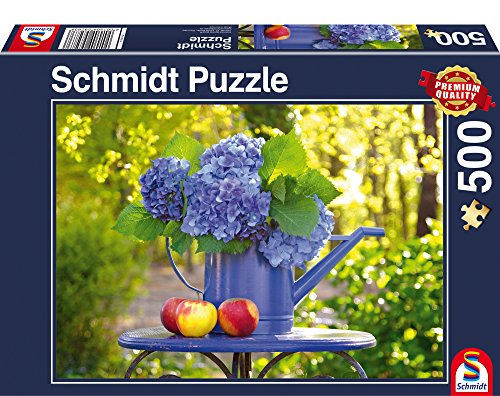 """Schmidt Spiele """"Watering can with Hydrangea Puzzle (500 Piece)"""
