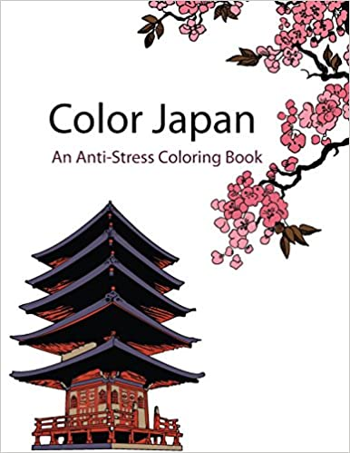 Color Japan Therapy An Anti Stress Coloring Book Star Books De Artist 9781518646577
