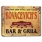 KOVACEVICH'S World Famous Bar & Grill Stretched Canvas Sign