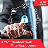 Software : Zyxel Content Web Filtering Subscription License (1 Year) for USG60 | USG60W
