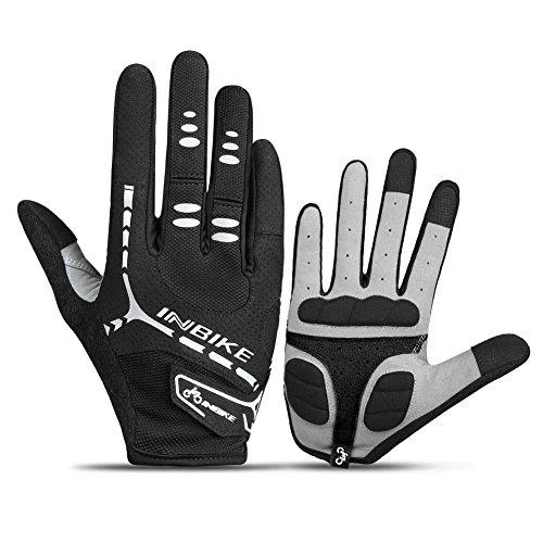 INBIKE 5mm Gel Padded Touch Screen Full Finger Cycling Gloves