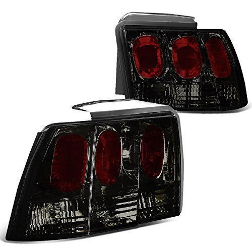 For Ford Mustang SN95 Pair of Smoked Lens Altezza Style Tail Brake - Mustang Tail Smoked Lights