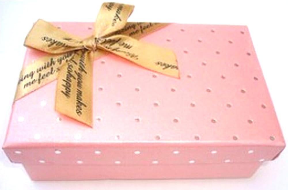 Gran tamaño de papel cajas de regalo caja de almacenamiento de cartón rosa lunares: Amazon.es: Salud y cuidado personal