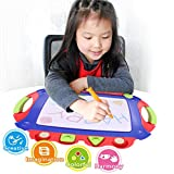 Wishtime Drawing Board for Kids Magnetic Pro Toddler Dry Erase Writing Doodle Sketch Learning Toys