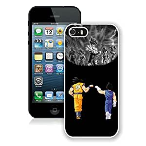 Unique And Durable Designed Case With Dragon Ball Z White For iPhone 5S Phone Case