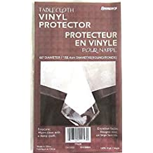 """CLEAR PLASTIC TABLECLOTH PROTECTOR 60"""" ROUND VERY HIGH QUALITY FAST SHIPPING"""