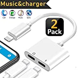 Headphone Accessories Adapter for iPhone 7 Adapter AUX Audio Jack Charge Adapter Car Charger [Audio+Charge+Call+Volume Control ] Earphone Cable Converter Compatible for iPhone X/7 8 Plus iOS13(2Pack)