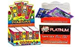 Bundle package 1 Dickalicious (24/DP) AND 1 Wet Safe Sex Kit with Platinum Silicone Lubricant