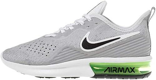 Nike Men's Air Max Sequent 4 Running Shoe White/Dark Grey/Lime Blast Size  8.5 M US