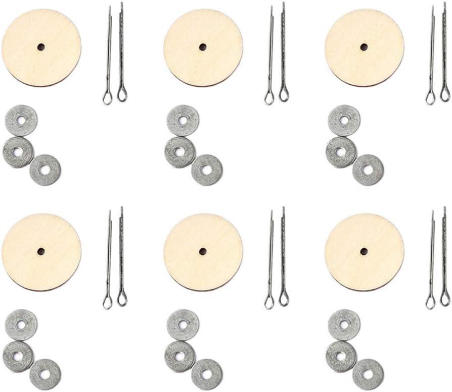 EXCEART 20 Juegos de Articulaciones de Mu/ñecas Accesorios de Mu/ñecas de Madera para Manualidades Diy Juguetes Oso de Peluche Haciendo Plata 20 Mm