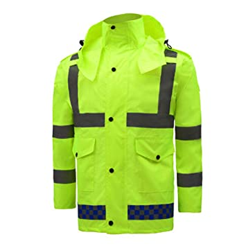 Size : XXL Fluorescent Green Reflective Vests GLJJQMY Mens High-Visibility Reflective Strip Top Safety Top