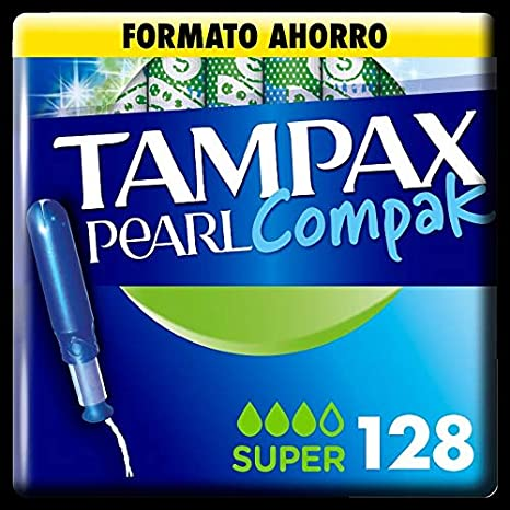 Tampax Compak Pearl Super with Applicator Protection and Discretion 128 Units 1220 g
