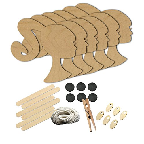Girl Ponytail HairStyle Style 142, Wood Shape Craft Kit, Kids Project Idea, Great for Party, School and (Ideas For Hairstyles)