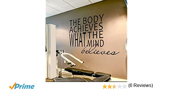 Amazoncom Wall Decal Decor Gym Wall Decal Sports Quotes The - Vinyl banners sizesjvd graphics just vinyl decal graphics banners