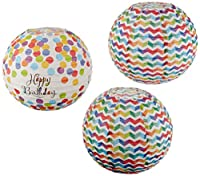 "Bright Balloons Birthday Party Printed Round Paper Lantern Decorations, 9"", Pack of 3"