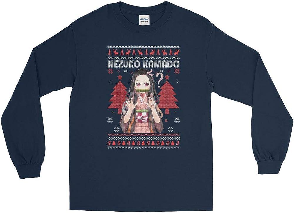 Nezuko Kamado Demon Slayer Kimetsu no Yaiba Anime Ugly Lovely Christmas Sweater Men//Women Unisex Long Sleeve Shirt