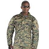 Rothco Combat Uniform Shirt, Woodland Digital, X-Large