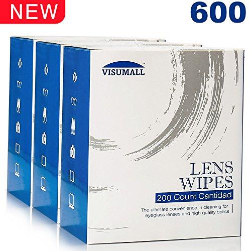 VISUMALL 600 Lens Wipes - Pre-Moistened Lens Cleaning - $600 Sunglasses