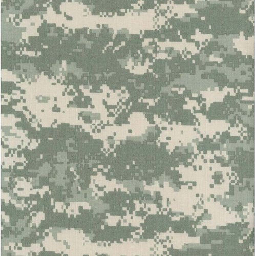 Army Digital Camouflage Nylon/Cotton RIPSTOP Fabric Print by the Yard (5002F-4K)