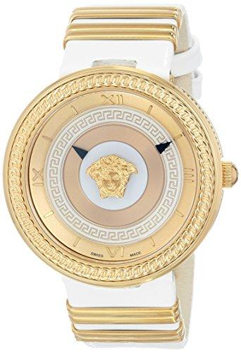 Versace Women's VLC040014 V-METAL ICON Analog Display Swiss Quartz White Watch
