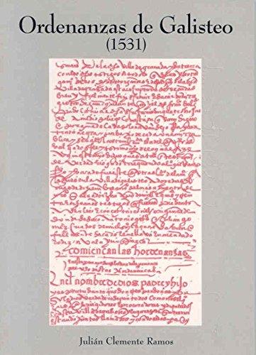 Ordenanzas de Galisteo (1531) Julián Clemente Ramos