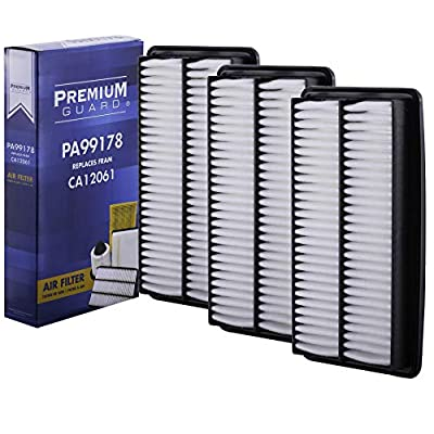 PG Air Filter PA99178| Fits 2020-20 Acura MDX, 2016-20 Honda Pilot 3.5L, 2020-20 Ridgeline 3.5L, 2020-20 Odyssey 3.5L, 2020-20 Passport 3.5L (Pack of 3): Automotive