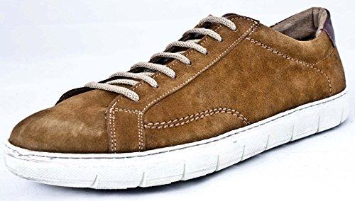 Soldini - Zapatillas de Piel para hombre marrón marrón