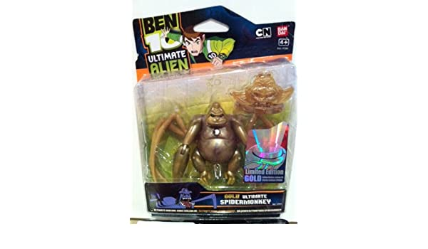 Amazon.com: BEN 10 GOLD 10cm ULTIMATE SPIDERMONKEY LIMITED ...