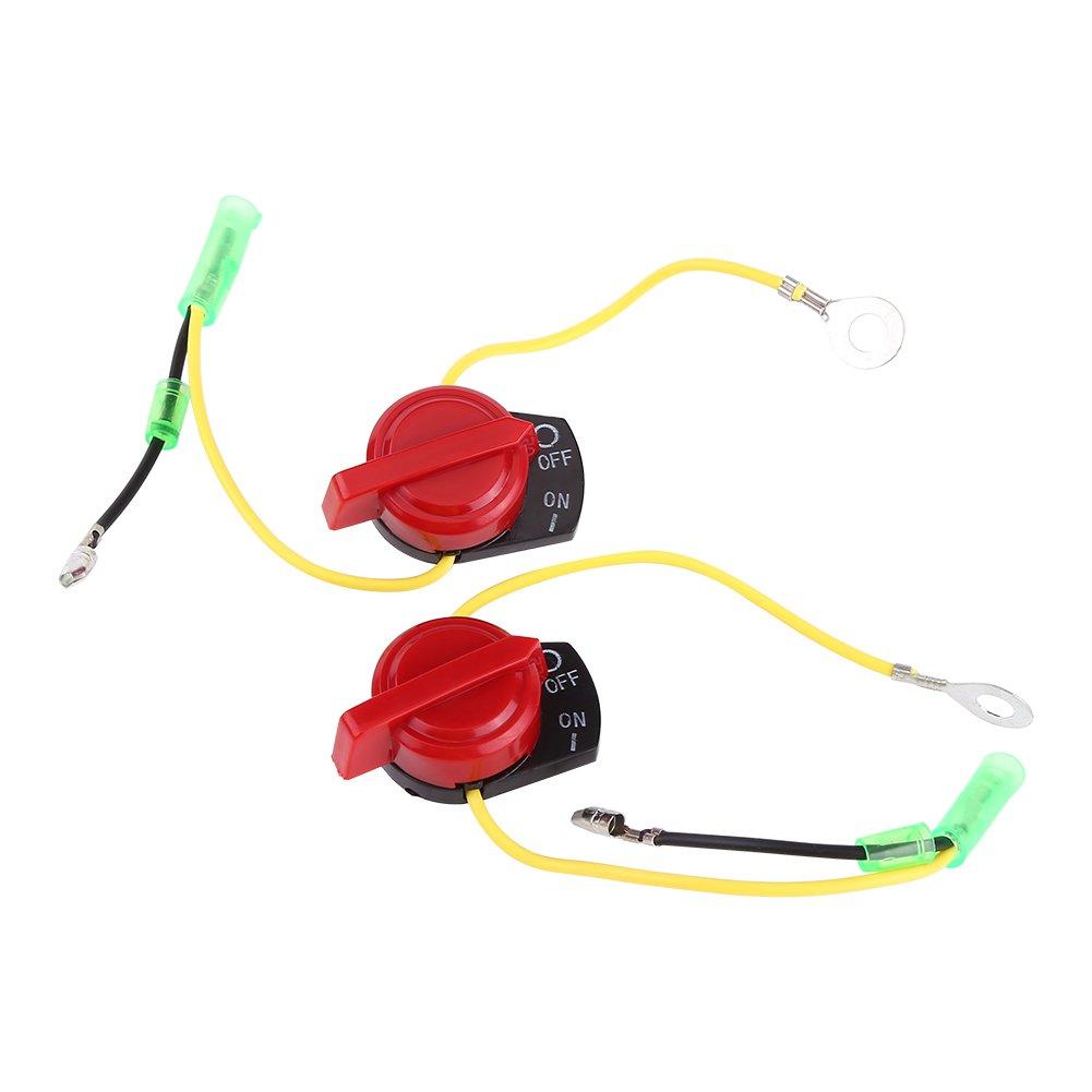 Interruptor de parada del motor de la motocicleta 2pcs, botó n de la parada del motor de Keenose Interruptor de la parada del interruptor para Honda GX120 GX160 Keenso