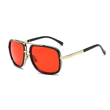 HYUHYU Moda Gafas De Sol Grandes con Montura Cuadrada para ...
